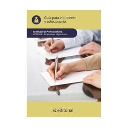 Guía para el docente y solucionarios HOTA0308