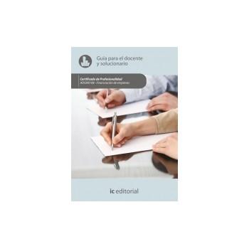 Guía para el docente y solucionarios.  ADGN0108